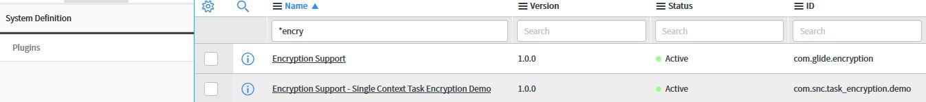 Servicenow – encrypt a field using encryption context – Web